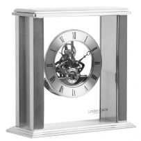 London Clock Company 03151 Silver Simple Frame Skeleton Mantel Clock